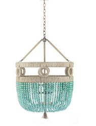 "Frankie Malibu Beaded 30"" Chandelier"