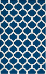 Frontier Classic Mediterranean Blue Flat Pile Rug