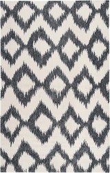 Frontier Ink/Winter White Flat Pile Rug
