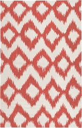 Frontier Bright Orange/Winter White Flat Pile Rug *Low Stock