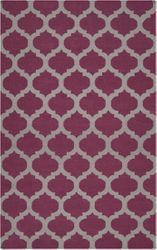 Frontier Raspberry Wine/Gray Classic Flat Pile Rug *Low Stock