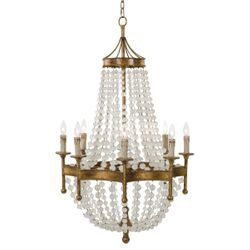 Frosted Crystal Bead Chandelier <font color=a8bb35>NEW</font>