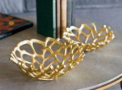 Gilded Web Bowl Set of 2
