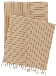 Gobi Linen Natural Throw <font color=a8bb35> NEW</font>