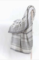 Gradation Ticking Woven Throw