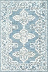 Granada Pale Blue Hand Tufted Rug <font color=a8bb35> NEW</font>