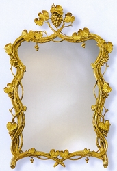 Grape Vines in Gold Leaf Mirror