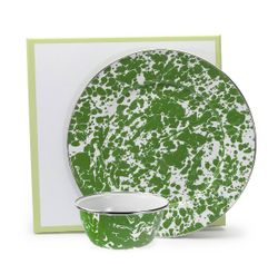 Green Swirl Dip Set