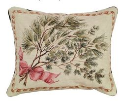Greenery Christmas Pillow <font color=a8bb35> NEW</font>