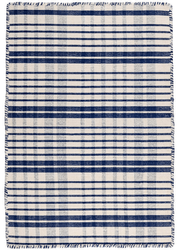 Guilford Navy Woven Cotton Rug <font color=a8bb35>NEW</font>