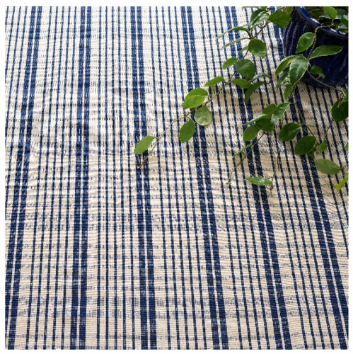 Guilford Navy Woven Cotton Rug *Sold out