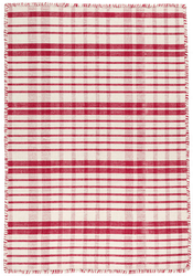 Guilford Red Woven Cotton Rug <font color=a8bb35>NEW</font>