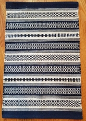 Gujan Blue Cotton Woven Rug 2x3