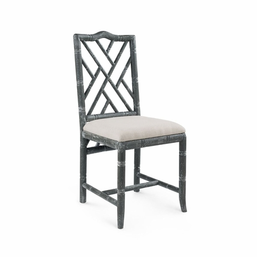 Hamptons Side Chair in Limed Gray *Backorder