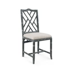 Hamptons Side Chair in Limed Gray