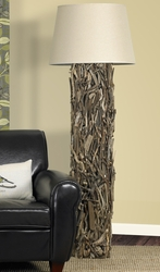 Hand-crafted Driftwood Floor Lamp