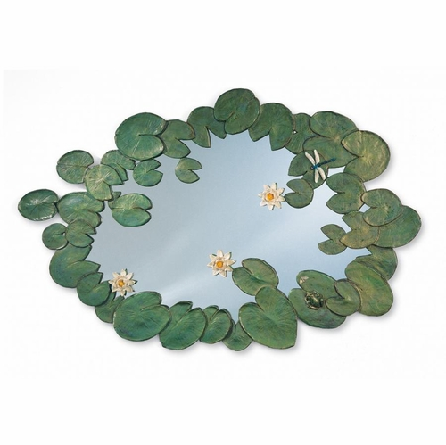 Hand Painted Water Lilies Mirror