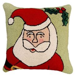 Happy Santa Christmas Pillow  <font color=a8bb35> NEW</font>