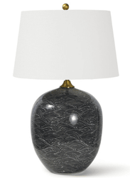 Harbor Ceramic Black Table Lamp <font color=a8bb35> NEW</font>