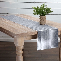 Harmony Ribbed Navy Table Runner <font color=a8bb35> NEW</font>