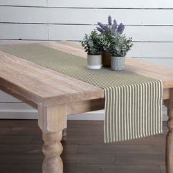 Harmony Ribbed Olive Green Table Runner <font color=a8bb35> NEW</font>