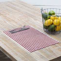 Harmony Ribbed Red Placemat Set of 6 <font color=a8bb35>NEW</font>