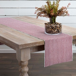 Harmony Ribbed Red Table Runner <font color=a8bb35> NEW</font>