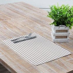 Harmony Ribbed Taupe Placemat Set of 6 <font color=a8bb35>NEW</font>