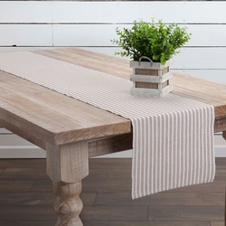 Harmony Ribbed Taupe Table Runner<font color=a8bb35> NEW</font>