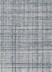 Harris Blue/Ivory Micro Hooked Wool Rug <font color=a8bb35>NEW</font>