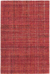 Harris Crimson Micro Hooked Wool Rug <font color=a8bb35>NEW</font>