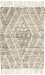 Healy Grey Woven Wool Rug <font color=a8bb35>NEW</font>
