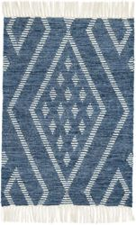 Healy Blue Woven Wool Rug <font color=a8bb35>NEW</font>