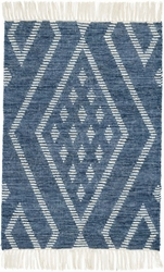 Healy Blue Woven Wool Rug