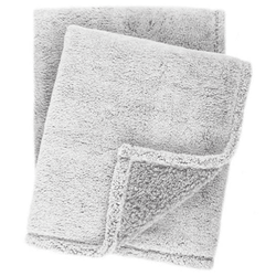 Heathered Fleece Grey Throw <font color=a8bb35> NEW</font>