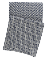 Herringbone Indigo Throw <font color=a8bb35> NEW</font>