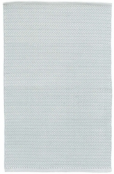 Herringbone Light Blue/Ivory Indoor/Outdoor Rug