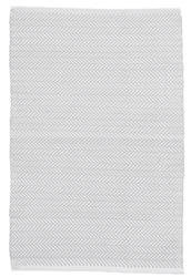 Herringbone Pearl Grey/White Indoor/Outdoor Rug <font color=a8bb35>NEW</font>