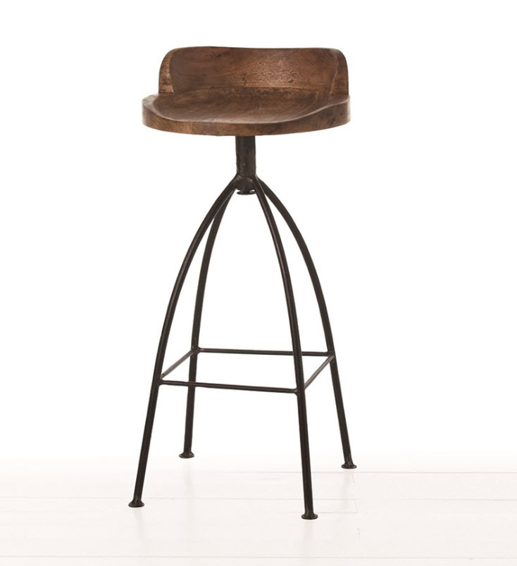 Hinkley Wood Iron Bar Stool For Sale Cottage Bungalow