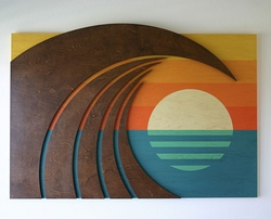 Hokua Ocean Beach Art -- Three Size Options