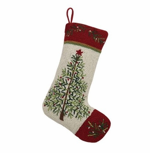 Holiday Pine Christmas Stocking<font color =a8bb35> Sold out</font>