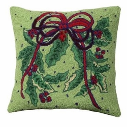 Holly Bough Christmas Pillow