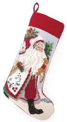 Holly Gathering Santa Chrismas Stocking<font color =a8bb35> Sold out</font>