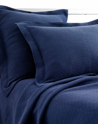 Interlaken Matelasse Ink/Navy Coverlet