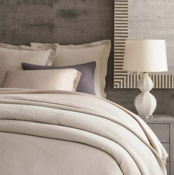 Interlaken Matelasse Sand Coverlet