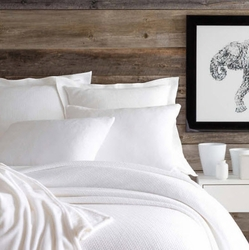 Interlaken Matelasse White Coverlet