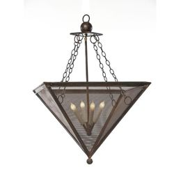 Inverted Pyramid Pendant Light with Screen
