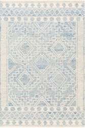 Izmir Light Blue Hand Tufted Rug  <font color=a8bb35> NEW</font>