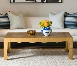Jaques Coffee Table in Antique Brass