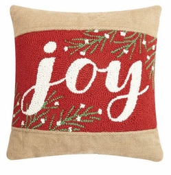 Joy Burlap Pillow